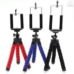 Mini tripé flexível com pernas de esponja