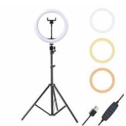 Ring Light Iluminador Anel Luz Portátil 30cm 12 Polegadas