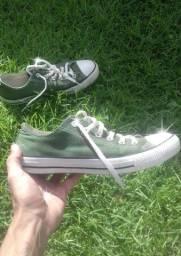 Converse All Atar cano baixo Verde Original