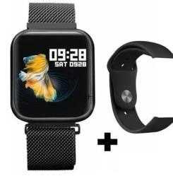 Ultimas unidades Smartwatch P80 Relógio Inteligente + Pulseira Extra De Aço pronta entrega