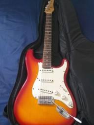 """Guitarra StratoCaster com 'Case Grátis"""""""