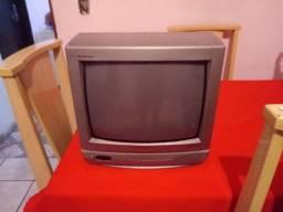 Tv 14 Pol Panasonic com entrada Av perfeita para ligar conversor ou game