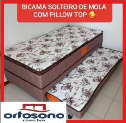 BICAMA SOLTEIRO  MOLAS COM PILLOW TOP