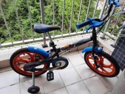 Bicicleta Caloi Hot Wheels Aro 16 Preta