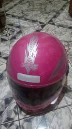 Vendo capacete. Rosa tamanho 58