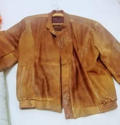 Jaqueta de couro mesmo