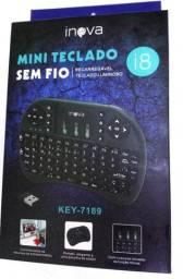Mini Teclado sem Fio Wireless com Funcao Touchpad USB<br><br>
