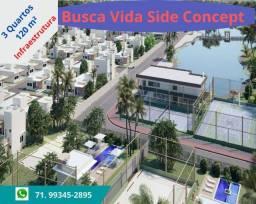 Busca Vida Side Concept, 3 quartos, 120 m², infraestrutura, imediações Shopping Busca Vida