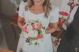 Vestido de Noiva +Saia de armação + Coroa