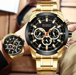 Relógio Curren Dourado Cronógrafo