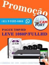 Promoção compre 4 cameras HD e leve fullHD