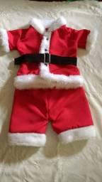Conjunto de papai Noel infantil