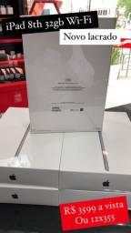 IPad 8th geração 32gb Wi-Fi novo lacrado 1 ano garantia