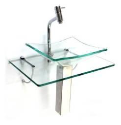 Apoio de cuba para banheiro de vidro