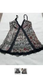 Linda blusa tecido transparente tamanho P/M