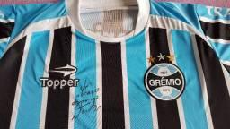 Camisa Oficial Grêmio/Topper Autografada pelo Goleiro Victor