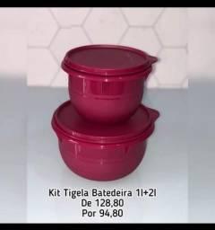Kit Tupperware tigela batedeira