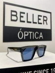 Óculos de Sol Evoke Time Square A04 Black Shine Gold Blue Total Original com Nota Fiscal
