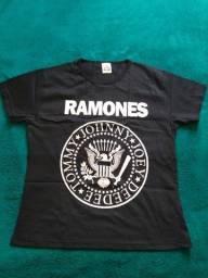 Camisetas Bandas de Rock Baby Look Femininas - tamanho G
