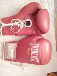 Luva de boxe Everlast Vermelha Semi nova