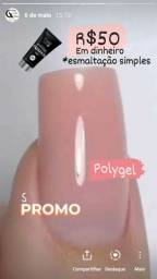 Alongamento polygel ou acrigel