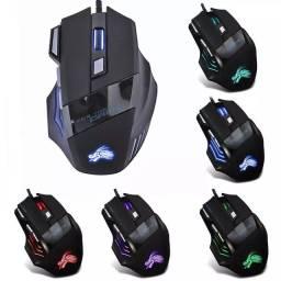 Mouse Gamer 7 botões 5500 dpi RGB