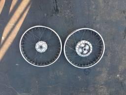 Vendo rodas ferro da titan 150  freio disco