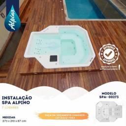 TA- Spa de fibra Alpino 7 lugares - Fabrica Alpino piscinas Divinópolis