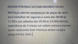Título do anúncio: Vendedor(a) Peças de carro Oportunidades de Emprego Região Ipiranga