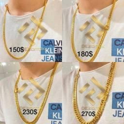 Jóias banhadas a 10 milésimos ouro 18k