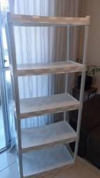 Plateleira de plástico 5 andares da cor branca