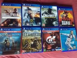 Jogos PS4 kit com 8 jogos