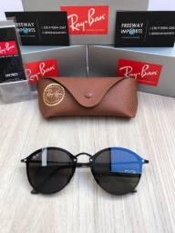 Óculos de sol Ray ban Round blazer black