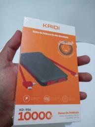 (Novo Lacrado Original) Carregador Portátil Power Bank 10.000mah Kaidi KD-956 3 Saídas