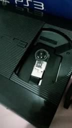 PS3 com 2 controles e FIFA 18