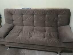 Sofa cama marrom novo