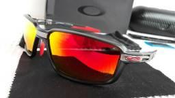 9f2db0b93420e Óculos Oakley Carbon Prime Scuderia Ferrari Preto Vermelho Polarizado - Novo