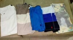 Vendo 5 shorts/bermudas M - R$ 150,00