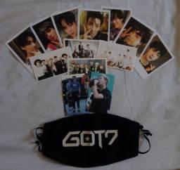 Cards BTS + Máscara GOT7