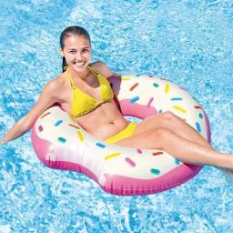 Boia Inflável Redonda Grande Rosquinha Donut - Intex 56265