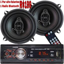 Radio Automotivo com bluetooth + 2 Alto-falantes