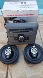 Som Original Honda Civic + Par de Auto falante JBL