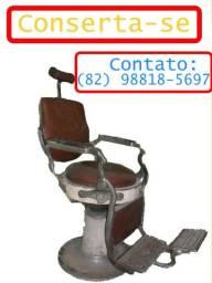 cadeira de barbeiro,conserto ( leia  descrição)