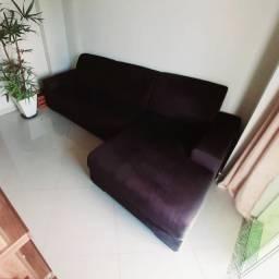 Sofá com Chaise Semi-Novo