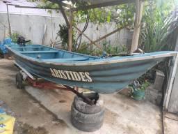 Barco 6 metros + motor de 15hp mercury revisado