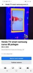 Vendo TV smart Samsung 48 polegadas