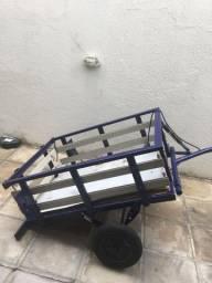 Reboque carrocinha para moto