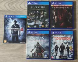 Jogos PS4 - Preços na descrição