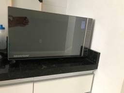 Microondas Brastemp 32 Litros Inox Espelhado Painel Eletrônico