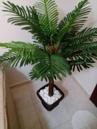 Planta ornamentação artificial coqueiro
